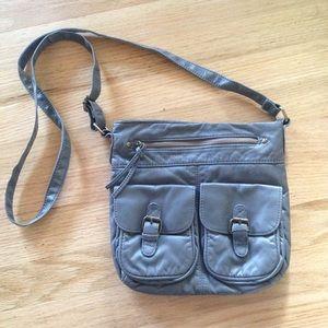 Handbags - Grey mini cross body bag